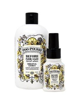Poo Pourri Original 16 Ounce Refill Bottle And 1.4 Ounce Original by Poo Pourri