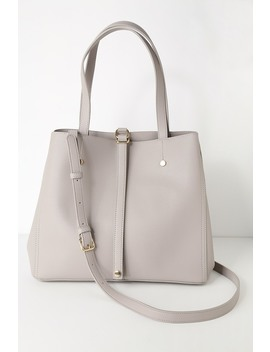Back To Business Grey Tote by Lulus