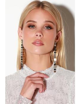 Bronx Silver Drop Earrings by Lulus