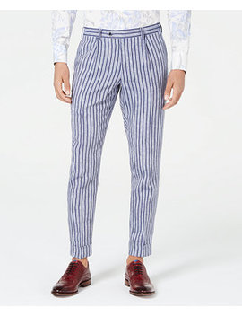 Men's Slim Fit Striped Pants, Created For Macy's by Tallia