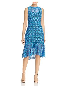 Breanna Sleeveless Lace Dress by Elie Tahari