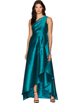 One Shoulder Mikado Gown With Cascade Ruffle Skirt by Adrianna Papell