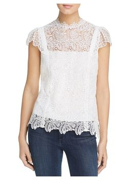 Zandaya Lace Cap Sleeve Top by Elie Tahari