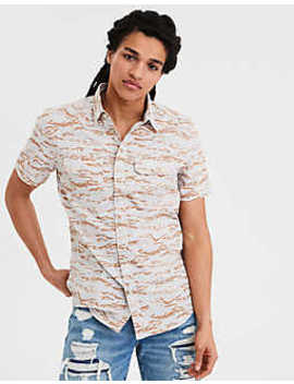Ae Short Sleeve Camo Shirt by American Eagle Outfitters