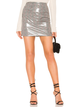Aime Vinyl Mini Skirt by By The Way.