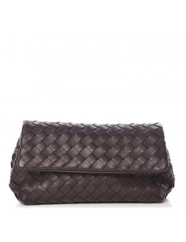 Bottega Veneta Nappa Intrecciato Cosmetic Case Ebano by Bottega Veneta