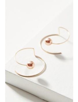By Boe Spiral Pearl Earrings by By Boe