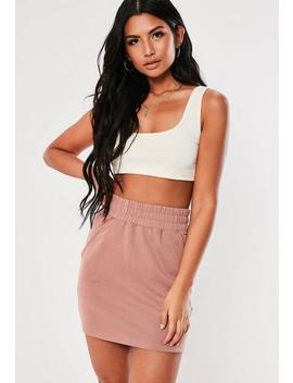 Dusty Pink Loopback Pocket Mini Skirt by Missguided
