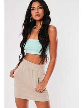 Stone Loopback Pocket Mini Skirt by Missguided