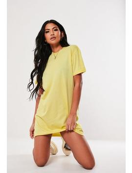 Yellow Basic T Shirt Dress by Missguided