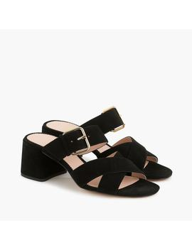Penny Slide Sandals In Suede by J.Crew