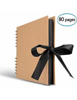 Innocheer Scrapbook, 80 Pages Photo Album, Great For Craft Paper Diy Anniversary, Wedding, Valentines Day Gifts(Brown) by Innocheer