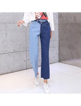 Lguc.H Patchwork Jeans Women Street Unique Jeans Woman 2018 Ankle Jean Female Autumn Trend Casual Trousers Denim Pants Korean Xl by Lguc.H