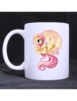 Cartoon My Little Pony Cute Horse Fluttershy Custom White Coffee Mug Tea Cup 11 Oz Office Home Cup (Printed On Two Sides) by Custom White Mug