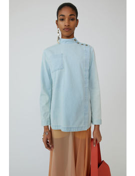 Asymmetric Shirt Light Blue by Acne Studios