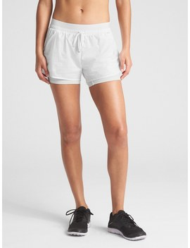 """Gap Fit 5"""" Stripe Double Layer Running Shorts by Gap"""