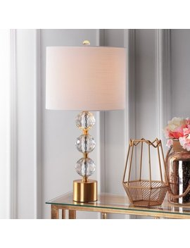 Ashley Clear/ Brass Crystal Led Table Lamp By Jonathan Y by Jonathan Y