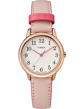 Timex Women's Easy Reader Leather Strap 30mm Watch by Timex