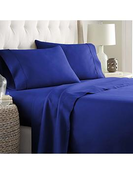 Hotel Luxury Bed Sheets Set 1800 Series Platinum Collection Deep Pocket,Wrinkle & Fade Resistant (Queen,Royal Blue) by Hc Collection