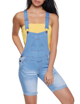 Vip Whiskered Denim Bermuda Shortalls by Rainbow
