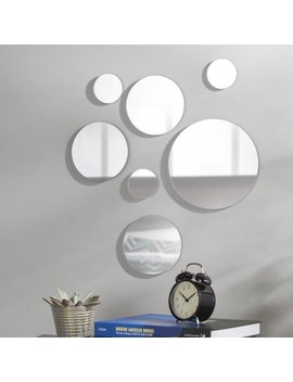 7 Piece Round Glass Mirror Set by Zipcode Design