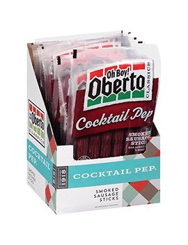 Oh Boy! Oberto Classics Cocktail Pep Smoked Sausage Sticks, 3 Ounce (Pack Of 8) by Oberto