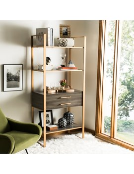 Safavieh Skylar Etagere With Drawer   Gold by Safavieh