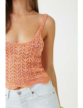 Sleeveless Multicolor Pointelle Top by Forever 21