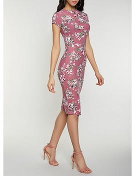 floral-mock-neck-dress by rainbow