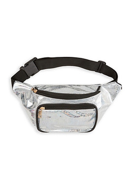 Holographic Confetti Print Fanny Pack by Rainbow