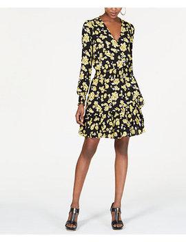 Smocked Surplice Dress by Michael Michael Kors