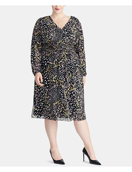 Trendy Plus Size Smocked Midi Dress by Rachel Rachel Roy