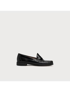 Rhea Black Leather Loafers by L.K.Bennett