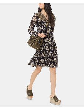 Mixed Print Flounce Dress, Regular & Petite by Michael Michael Kors