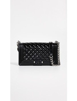Chanel Patent Medium Boy Bag by What Goes Around Comes Around