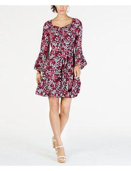 Mod Garden Smocked Neck Dress by Michael Michael Kors