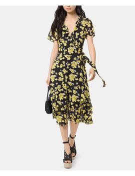 Floral Print Wrap Dress by Michael Michael Kors