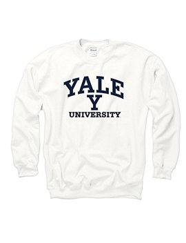 Shop College Wear Yale Bulldogs Men's Crew Neck Sweatshirt White by Shop College Wear