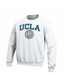 Shop College Wear University Of California Los Angeles Ucla Block & Seal Crew Neck Sweatshirt White by Shop College Wear