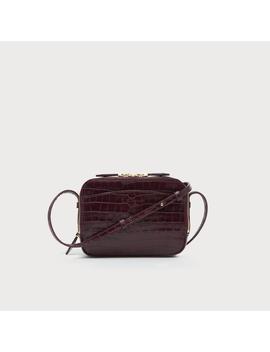 Mariel Bordeaux Croc Shoulder Bag by L.K.Bennett