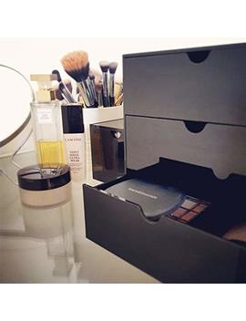 Moia 3 Drawer Makeup Cosmetic Organizer   Elegant Multipurpose Organizer Black Storage   The Best Housewarming Gift by Moia
