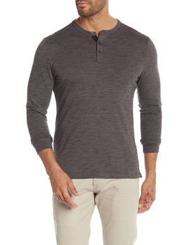 Douglas Long Sleeve Henley by Robert Barakett