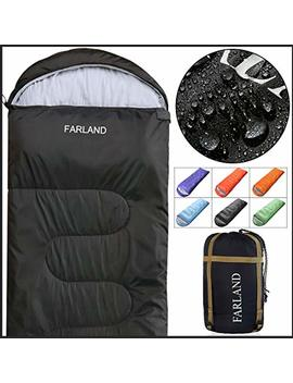 Farland Sleeping Bag 0 Degree To 20 Fahrenheit For 4 Seasons Envelope Mummy And Double Lightweight Portable Waterproof For Adults & Kids,Perfect For Traveling,Hiking And Outdoor Activities by Farland