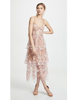 Floral Embellished Midi Dress by Self Portrait