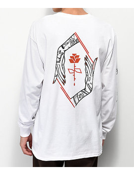 Empyre Defend The Rose White Long Sleeve T Shirt by Empyre