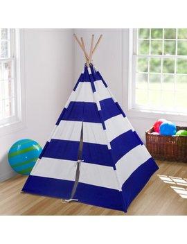 Wildkin Blue & White Striped Canvas Teepee by Wildkin