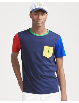 Classic Fit Color Blocked Tee by Ralph Lauren