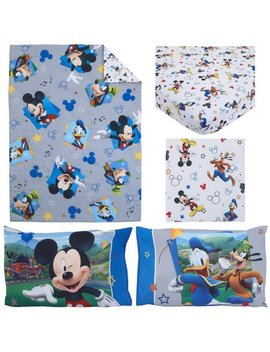Disney Mickey Mouse Having Fun 4 Piece Toddler Bedding Set by Mickey Mouse