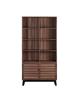 Ameriwood Home 9549096 Com Vaughn Bookcase Walnut by Ameriwood Home