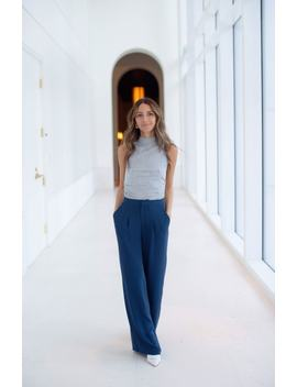 Relaxed High Waist Pants by Something Navy